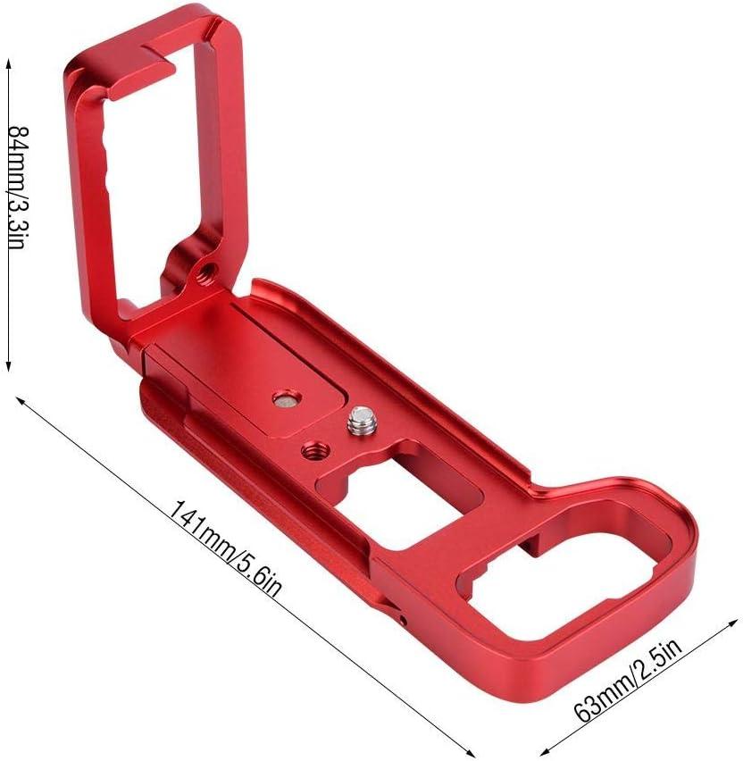 Black Neufday Metal Aluminum Alloy L-Shape Camera Flash Bracket Flashlight Camera Holder Mount Quick Flip DSLR SLR