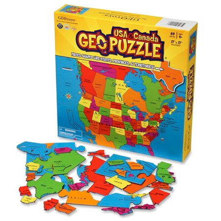 GeoPuzzle U S Canada Educational Geography