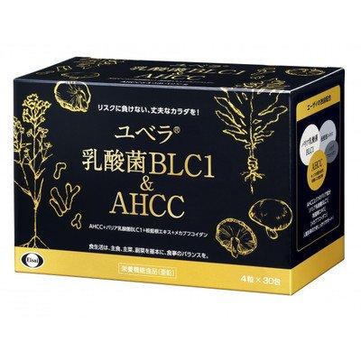 エーザイ ユベラ 乳酸菌BLC1 & AHCC 4粒×30袋入 栄養機能食品(亜鉛) エーザイ 送料無料 メカブフコイダン AHCC オリーブ油 亜鉛 α-グルカン B07C75DNLJ