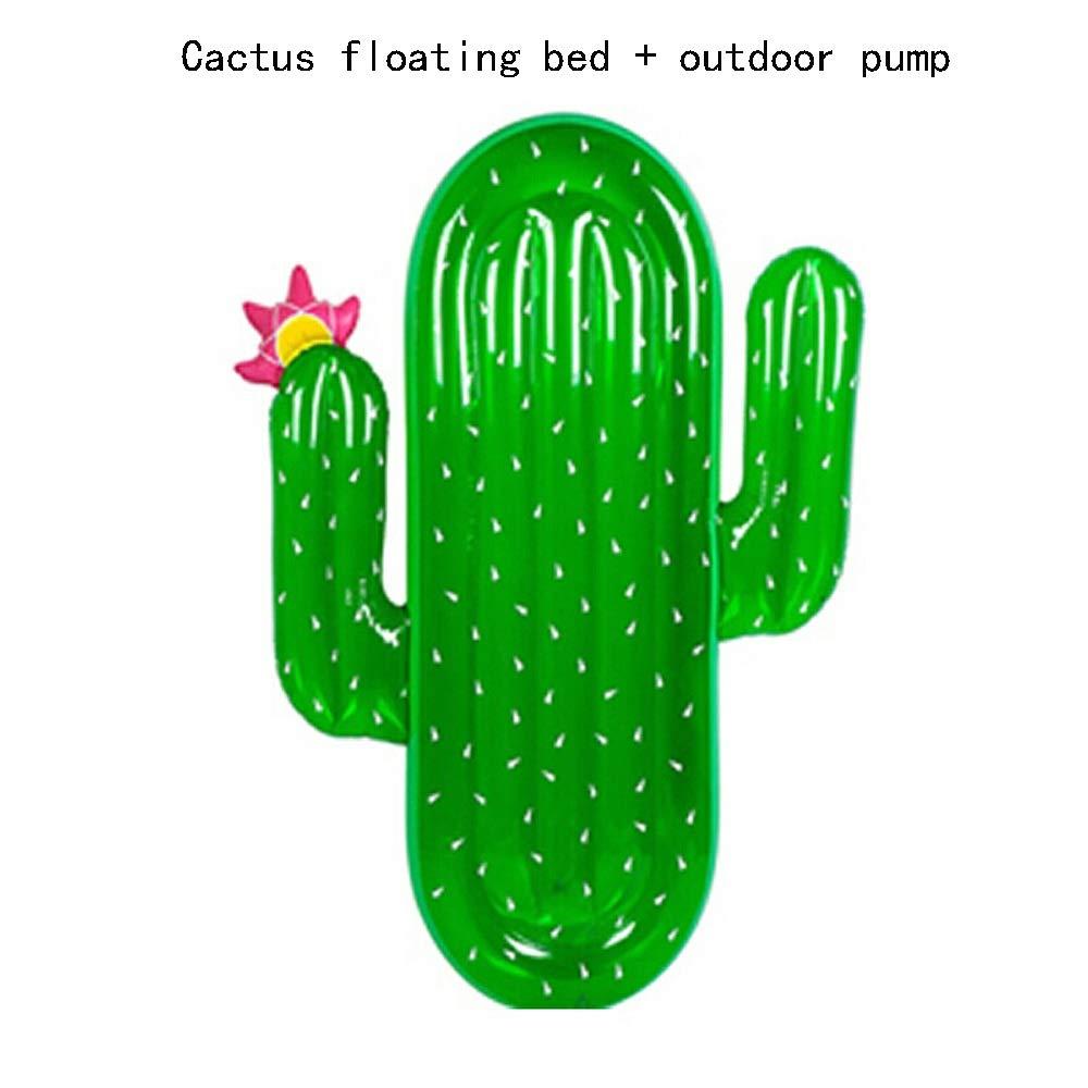 YYQUAN Cactus Natación Círculo Agua Cojín Flotante Flotante ...