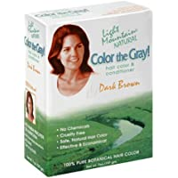 Light Mountain Natural Color The Gray! Hair Color & Conditioner, Dark Brown, 7 oz , (Pack of 2)