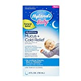 Hyland's Baby Nighttime Mucus + Cold Relief, Natural Relief of Congestion at Night, 4 Ounces