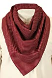 Historical Emporium Men's Cotton Western Neckerchief Burgundy Dot