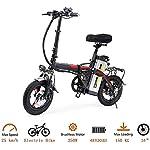 51mrcGOwTcL. SS150 Drohneks Bici elettrica Pieghevole Portatile, Bici da 14 Pollici 400W Motore ebike Max 35 km/h e Bici per Adulti