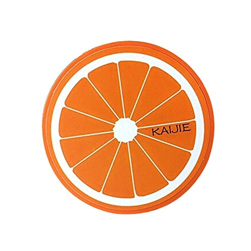 Acuvue 2 Contact Lenses - Creative Fruit Contact Lenses Cases with Orange Pattern Lenses Holder, 7x7x2cm
