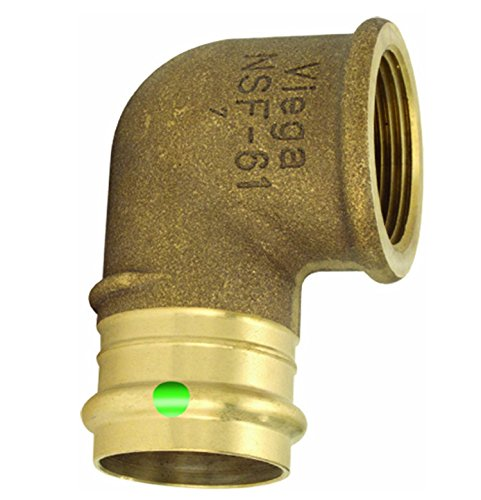 VIEGA 77552 Propress Bronze 90-Degree Elbow with Female 1'' x 1'' P x Female NPT (2-Pack)