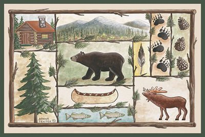 Cabin Wildlife Rug