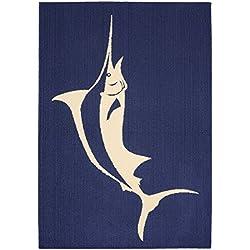 Garland Rug Marlin Area Rug, 5 x 7', Indigo/Ivory