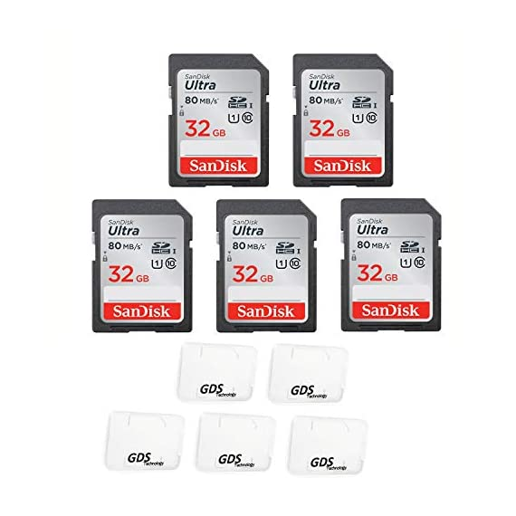 5x Genuine SanDisk Ultra 32GB Class 10 SDHC Flash Memory Card Up To 80MB/s Memory Card (SDSDUNC-032G-GN6IN) with slim… 1 Five RETAIL Pack (32GB x 5EA) 32GB Data Storage Capacity, Class 10 - UHS-I 32GB Data Storage Capacity, Class 10 - UHS-I