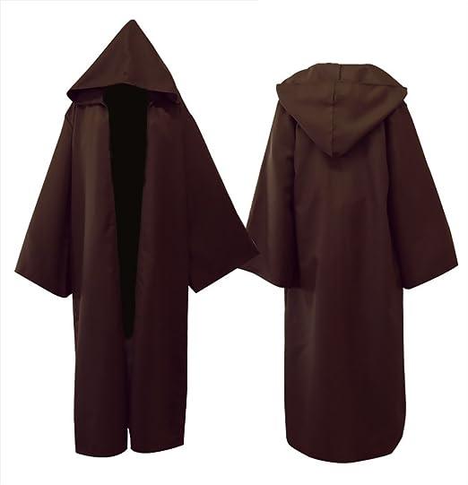 Baozhang hombres negro capa partido traje de cosplay túnica capa, Adulto Knight Cool Capucha Capa