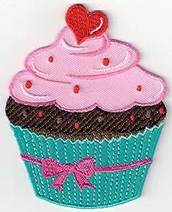 6679562da PatchMommy Parche Bordado Cupcake Magdalena Muffin Rosa y Azul Parche  Termoadhesivo - Parches y Apliques Infantiles: Amazon.es: Hogar