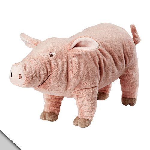 Knorrig IKEA Pig Hog Farm Stuffed Animal Children's Soft Toy Play, Pink -
