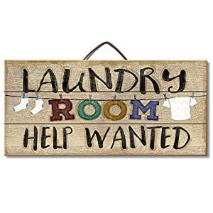 Laundry Room Help Wanted Reclaimed Wood Pallet Sign