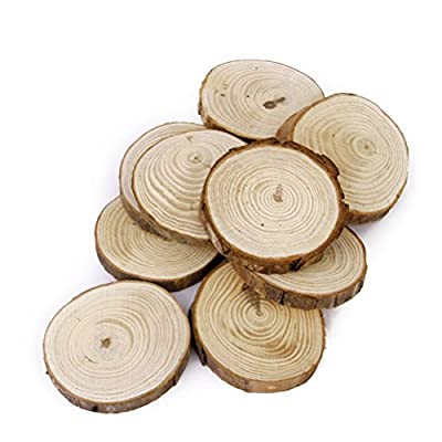 OULII Wood Log Slices Discs for DIY Crafts Wedding Centerpieces Pack of 30?6-8CM