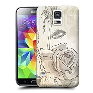 Unique Phone Case Sketch of roses Hard Cover for samsung galaxy s5 cases-buythecase