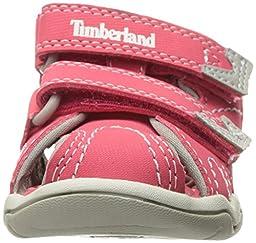 Timberland Girls\' Adventure Seeker Closed Toe Sandal, Geranium, 7 M US Toddler