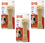 (3 Pack) Nylabone Dura Chew Souper Peanut Butter Flavored Bone Dog Chew Toys For Sale