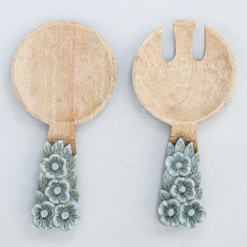 Creative Co-op DA8806 Hand-Carved Mango Wood Salad Servers (Set of 2 Pieces) by Creative Co-op (Image #1)