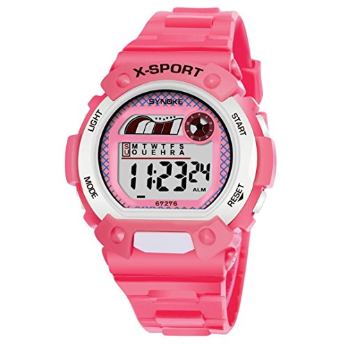 Jelly Sport Wrist Watch (DRACLE Children's Watch Waterproof LED Digital Date Wristwatch Sports (Pink))