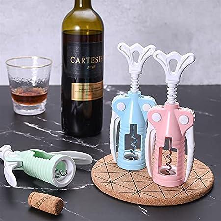KGDC Sacacorchos de Camareros 1 PC portátil de Acero Inoxidable abrelatas de Vino Tinto Tipo de ala Camarero plástico Vino sacacorchos Botella manija abridores sacacorchos Abridor de Botellas