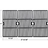 Hisencn Cast Iron Grill Cooking Grid Grate Replacement Parts for Charbroil 463420508, 463420509, 463420511, 463436213, 463436214, 463436215, 463440109, 463441312, 463441514, 463461613, Thermos 4614421