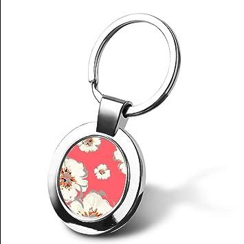 Llavero personalizable con diseño de ancla floral y texto ...