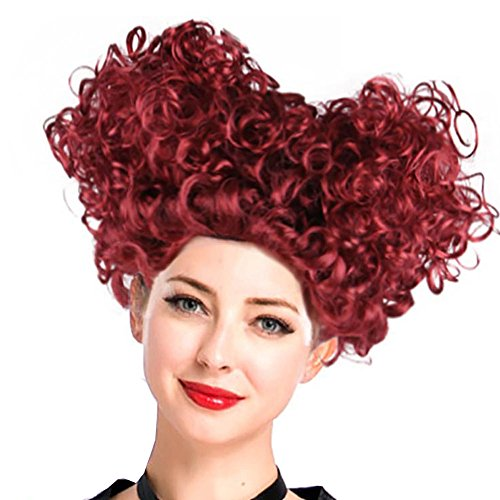 Short Afro Curly Beehive for Women Wig Halloween Cosplay -