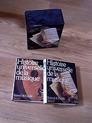 HISTOIRE UNIVERSELLE DE LA MUSIQUE COFFRET