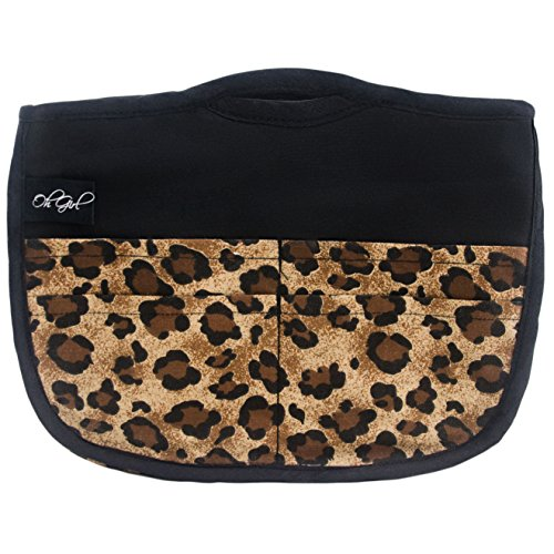 Extra Small Handbag (Oh Girl Reinforced Purse Organizer (Small - Tall, Leopard))