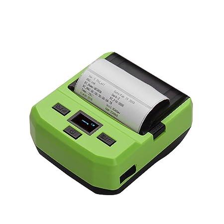 QWERTOUY 80 mm portátil inalámbrico BT Impresora térmica de ...