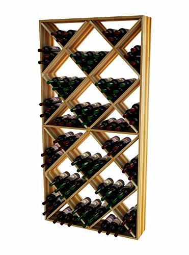 Wine Cellar Innovations TR-LI-SDIAM-A3 Traditional Series Solid Diamond Bin Wine Rack, Premium Redwood, Light (Diamond Bin Wine Rack)