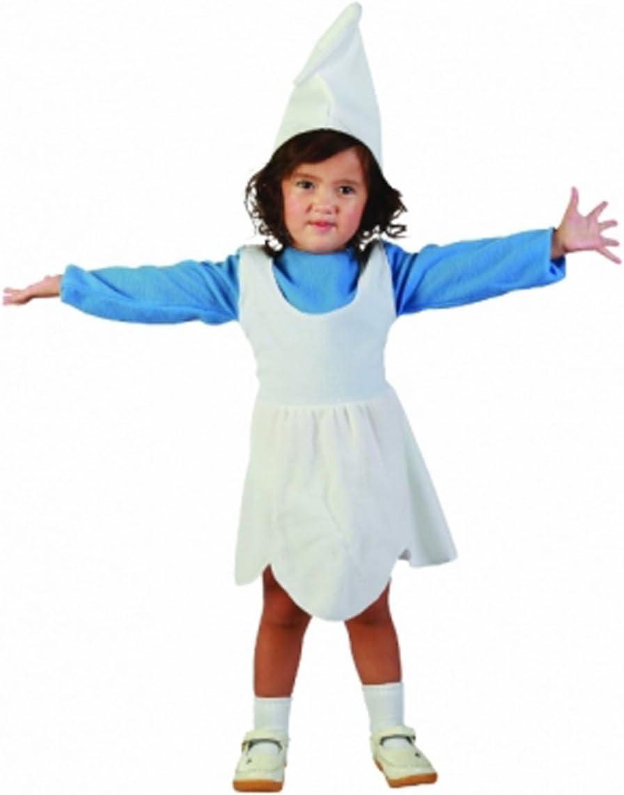 Kids blanco elfo para disfraz de niña pitufo gnomo disfraz traje ...
