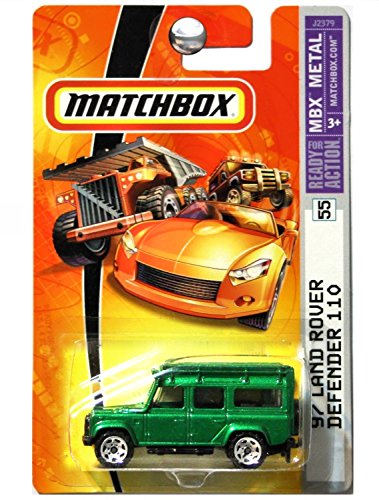 matchbox-97-land-rover-defender-110-metallic-green-55-1-64-scale-collector-by-matchbox