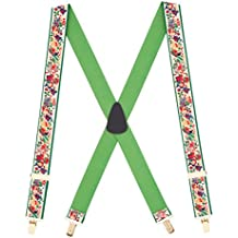 Suspender Store Mens Old-Time Christmas Presents Novelty Suspenders (3 Sizes)