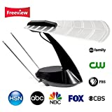 Elecwave HDTV Antenna 50 Miles Range Indoor Amplified Antenna with High Performance,6 ft Coaxial Cable,Black