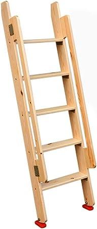 Escalera de madera Loft Interior de la casa Altura 1.5 m Escalera ...