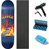 Baker Kader Board to Death Skateboard Deck - 8.25' W/Mob Grip, CCS Skate Tool, Wax, and ABEC 7 Bearings