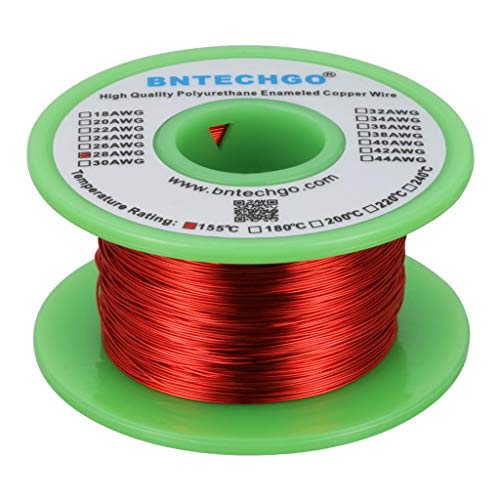 BNTECHGO 28 AWG Magnet Wire - Enameled Copper Wire - Enameled Magnet Winding Wire - 4 oz - 0.0126
