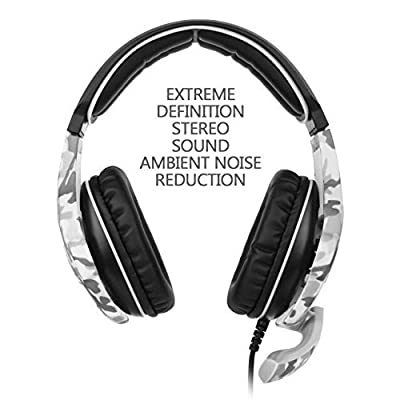 SADES SA810 New Updated PlayStation 4 Gaming Headset Over Ear Stereo Gaming Headset Headphones Bass Gaming Headphones with Noise Isolation Microphone for New Xbox One PC PS4 Laptop Phone(Camouflage)