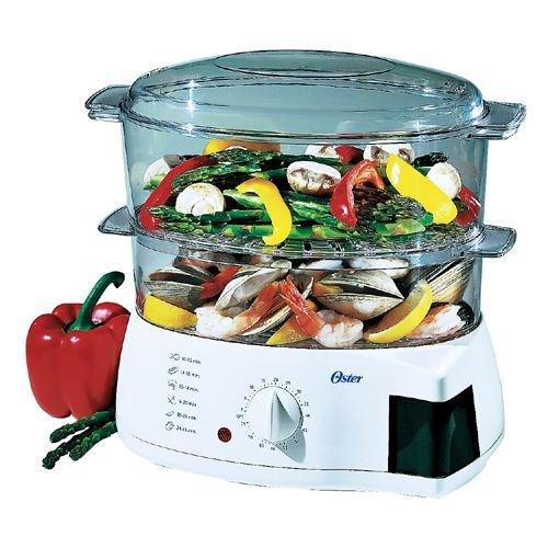 Oster 5711 Mechanical 6-quart Instant Food Steamer & Cooker White