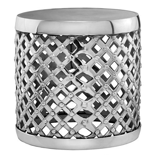 silvertone-lattice-aluminum-drum-accent-table