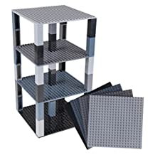 """Strictly Briks Premium Black AndClassic Baseplates 6"""" x 6"""" Brik Tower by Strictly Briks 
