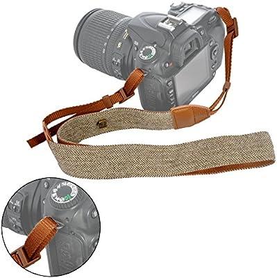 Dark Brown Camera Belt,Camera Neck Strap Adjustable Universal PU Leather Camera Shoulder Neck Strap Belt Photography Accessory