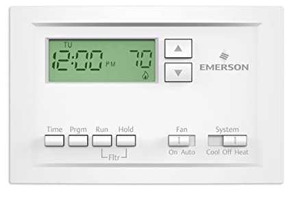 Emerson P210 Single Stage 5-1-1 Day Programmable Thermostat by White-Rodgers