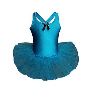 Toddler Girls Gauze Leotards Ballet Bodysuit Dancewear Dress Clothes Outfit SX