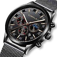 Men Stainless Steel Business Casual Watch Mens Luxury Waterproof Sport Chronograph Wristwatch …