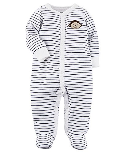 Carter's Baby Boys' Monkey Button Up Cotton Sleep & Play 9 Months