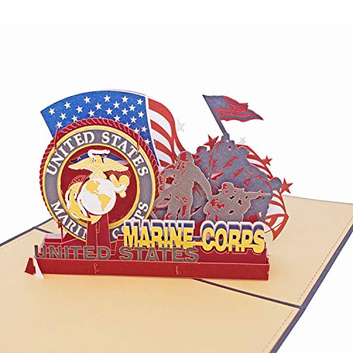 - AITpop Father's Day Greeting Card - Soldiers of U.S. Marine Corps Retired Commemorative Crad - Birthday Card, Anniversary Card,Thank You Card,3D Pop Up Card