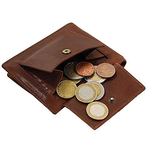 Branco Herren Leder Dollarclip mit Münzfach Geldbeutel