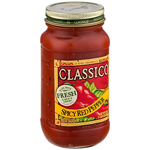 Classico Spicy Red Pepper Tomato Pasta Sauce, 24 Ounce - Homemade Pasta Tomato Sauce